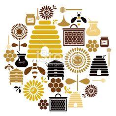 Honey Icon Set Royalty Free Stock Vector Art Illustration