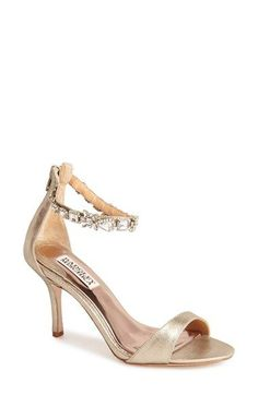 Jewel Ankle Strap Wedding Shoes by Badgley Mischka | Featured on Dress for the Wedding