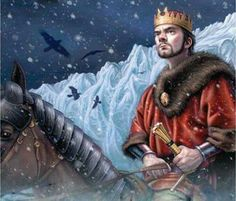 """Stannis at the Wall - by Allan Douglas.  """"Few of the birds that Maester Aemon had sent off had returned as yet. One reached Stannis, though. One found Dragonstone, and a king who still cared.""""- Samwell Tarly."""