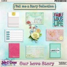 Our Love Story Journal Cards