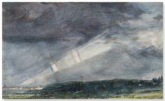 TEMPORALE (per rimanere in tema..) nei cieli di LONDRA.. CONSTABLE ha dipinto questo accuratissimo acquerello in una sera del giugno 1831 dalla sua casa di HAMPSTED