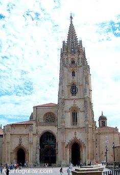 Catedral de Oviedo: fachada occidental --> http://www.arteguias.com