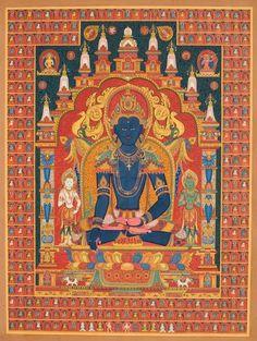 Nepali paubha with bodhisattvaAkshobya