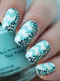 Chevron Leopard Print Nail Art (Video Tutorial)