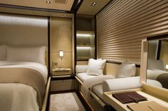 bedroom ideas for sm bedroom ideas for small rooms Big Bedrooms, Small Room Bedroom, Small Rooms, Master Bedroom, Small Space, Yacht Design, Luxury Yacht Interior, Dispositions Chambre, Small Room Design