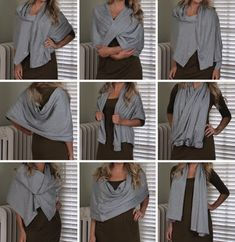Hammers and High Heels: Sew Easy DIY Multi-Wear Snap Scarf.... PERFECT for traveling