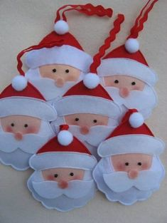 66 Ideas Homemade Tree Decorations Navidad For 2019 - 66 Ideas Homemade Tree Decorations Navidad For 2019 66 Ideas Homemade Tree Decorations Navidad For 2019 Felt Christmas Decorations, Felt Christmas Ornaments, Diy Christmas Ornaments, Handmade Christmas, Holiday Crafts, Christmas Candles, Christmas Christmas, Holiday Decor, Felt Crafts