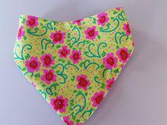 Bavoir bandana coton imprimé fleurs : Mode Bébé par ma-choupinette