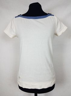 c17bc7ebdc LRL Ralph Lauren Jeans Womens Small Top Zip Shoulder S S Cotton Blue Cream  Shirt  fashion  clothing  shoes  accessories  womensclothing  tops (ebay  link)