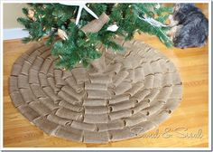 Turn wedding dress into a christmas tree skirt i want to try this