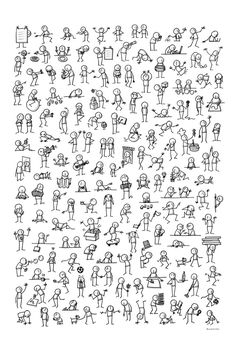 Buy Little people by sketchnotesbook.com as a matted print, mounted print, canvas print, framed print, or art prints
