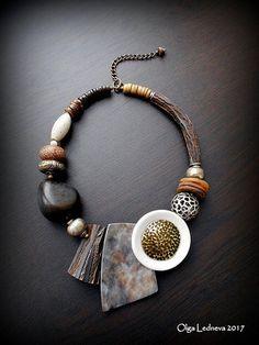 Leather Jewelry, Boho Jewelry, Jewelry Art, Beaded Jewelry, Jewelery, Unique Jewelry, Jewelry Design, Fashion Jewelry, Cool Necklaces