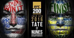 Miesha Tate vs Amanda Nunez #UFC200 promo poster : if you love #MMA, you'll love the #UFC & #MixedMartialArts inspired fashion at CageCult: http://cagecult.com/mma