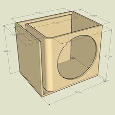 Resultado de imagen para subwoofer box design for 12 inch Diy Subwoofer, 12 Inch Subwoofer Box, Subwoofer Box Design, Speaker Box Design, Subwoofer Speaker, Audiophile Speakers, Audio Box, Sub Box Design, Ported Box