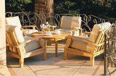 Somer Grade-A Teak Wood 5 pc Outdoor Garden Patio Sofa Lounge Chair Set New