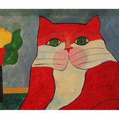 aldemir-martins-gato-vermelho-com-vaso-de-flores_iZ4XvZxXpZ1XfZ80217517-443325608-1.jpgXsZ80217517xIM.jpg (990×990)