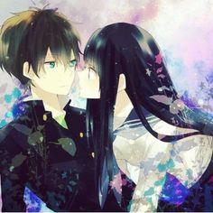 Tags: Pixiv Id Hyouka, Oreki Houtarou, Chitanda Eru, Pixiv Cute Anime Pics, Cute Anime Couples, Awesome Anime, Manga Art, Manga Anime, Anime Art, Kawaii Anime, Amor Romance, Anime Couples