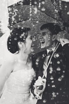 Rainy and happy wedding