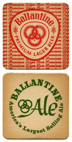 14 We Invite You To Try Ballantine  Beer Coasters