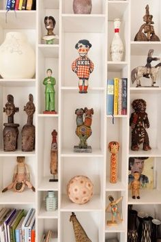mattis: The Selby: Olaf Hajek at Home in Berlin Toy Display, Display Shelves, Display Case, Display Ideas, Wall Shelves, Shelving, Interior Inspiration, Design Inspiration, Design Ideas