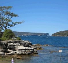 Looking towards North Head and South Head, Sydney Harbour - where the harbour joins the ocean.