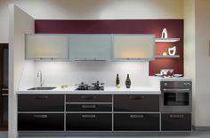 Aluminum Frame Glass Kitchen Cabinet Doors Frame Style: Verona Anodizing: Natural Aluminum