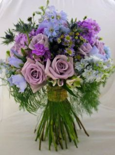 Purple hand tied bouquet