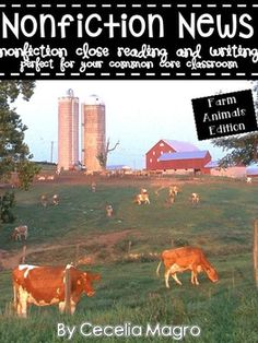This 92 page product is what you need to implement ELA Common Core Standards in your classroom.  It includes nonfiction articles for close reading on farm animals - Chickens (2 versions for differentiation), Sheep (2 versions for differentiation), Ducks, Pigs (2 versions for differentiation), Cows (2 versions for differentiation), Goats (2 versions for differentiation) and ...