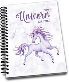 My Unicorn Journal: Spiral-bound journal with 120 softly lined pages Notebooks, Journals, Mystical World, Purple Unicorn, Lined Page, Important Dates, My Journal, Spiral, Etsy