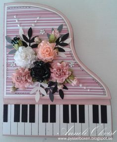 Anneli's Pysselbox: Piano Cards in pink!