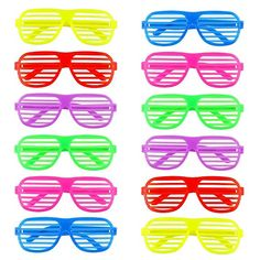 12 Pack Shutter Shading Glasses Novelty Fancy Dress for Costume Cosplay Photo Props Eighties Style, Shutters, Photo Props, Fancy Dress, Shades, Cosplay, Autumn, Costumes, Sunglasses