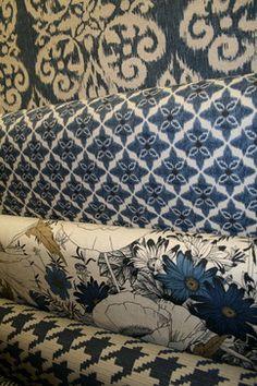 Blue Fabrics  upholstery fabric