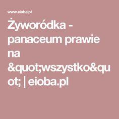 """Żyworódka - panaceum prawie na  """"wszystko""""   eioba.pl"""