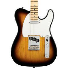 Fender American Standard Telecaster Electric Guitar with Maple Fingerboard 2-Color Sunburst Maple Fingerboard