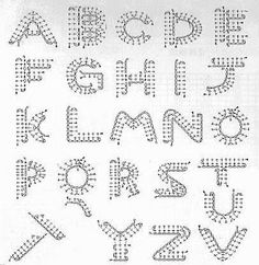 How to crochet letters crochet letters crochet and free need more fiber march 2009 thecheapjerseys Images