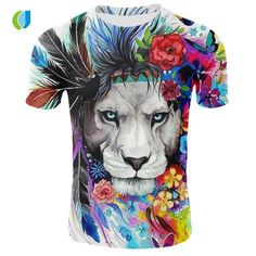 29 Ideas for tattoo watercolor lion flower Watercolor Lion, Floral Watercolor, Tattoo Watercolor, Lion Flower, Tree Sleeve, The Lion Sleeps Tonight, Lion Shirt, T Shirt Painting, Best T Shirt Designs
