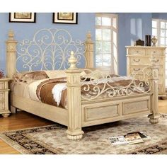 Floral Poster Bed - for an adult princess :)