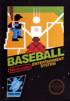 Baseball (Nintendo Entertainment System, for sale online Vintage Video Games, Retro Video Games, Vintage Games, Classic Nes Games, Classic Video Games, Games Box, Old Games, Nes Collection, Playstation