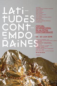 latitutes2013 poster by Les produits de l'épicerie