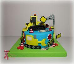Caterpillar construction cake - Bager torta by Balerina Jagodina