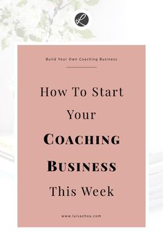 How to start your coaching business THIS week Looking for some tips for build your coaching business? Here is how start your coaching business THIS week. What are you waiting for you? Small Business Marketing, Online Business, Business Coaching, Business Tips, Small Business Coach, Business Women, Business Planner, Life Coaching Tools, Online Coaching