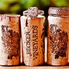want!! We wanted to do this at our engagement shoot but forgot corks haha... maybe use the wine we will drink at the wedding? you know my dad will pick killer wine! ;D
