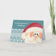To a Special Kid from Santa Claus. Christmas Cards Custom Christmas Cards, Personalised Christmas Cards, Christmas Gifts For Kids, Christmas Greeting Cards, Christmas Card Holders, Christmas Greetings, Holiday Cards, Merry Christmas, Personalized Cards