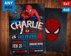 Spiderman Birthday Invitation by WildTreeBoutique on Etsy lil boys