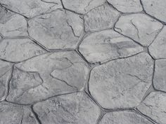 stamped concrete | Colored & Stamped Concrete - Randon Stone Stamped Concrete Walkway, Concrete Color, Grey Stone, Tile Floor, Backyard, Outdoor Decor, Outdoor Fire, Loft Bedrooms, Smuk