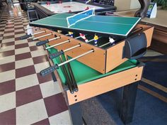 This week's exclusive sale Item! A 4-way game table, Pool, Foosball, Ping Pong, and Push Hockey. This sale item is available in a very limited quantity.