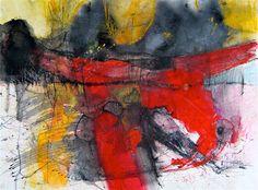 Original art for sale at UGallery.com | Casting the Bones of Fortune by Kara Barkved | $450 | mixed media artwork | 18' h x 24' w | http://www.ugallery.com/mixed-media-artwork-casting-the-bones-of-fortune