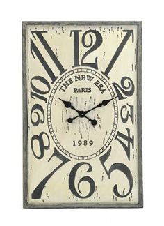 The Square Wooden Clock is a modern French design with numbers of different sizes as they fit around the cloth face. This interesting style will hang beautifully on any wall and create a lasting chic style.
