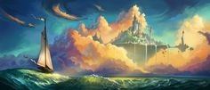 ArtStation - Eduard Kolokolov's submission on The Journey - Environment Art Challenge Art Challenge, Fantasy Illustration, Digital Illustration, Castle Tattoo, Fantasy Castle, Environmental Art, Fantastic Art, Art Background, Fantasy World