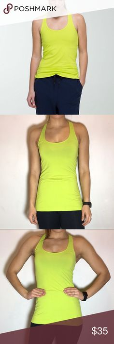 Lululemon Cool Racerback in Antidote Lululemon Cool Racerback in Antidote. -No tag/size dot, but size 6. -Good condition, but has some pilling throughout (see last picture). Additional pics upon request :)    NO Trades. Please make all offers through offer button. lululemon athletica Tops Tank Tops